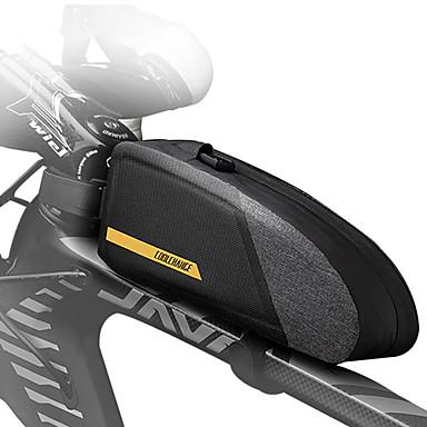 abordables Sacoches de Vélo-CoolChange 1 L Sac de cadre de vélo Sacoche de Guidon de Vélo Pluie Etanche Zip étanche Résistant à la poussière Sac de Vélo TPU Nylon Sac de Cyclisme Sacoche de Vélo Cyclisme Activités Extérieures