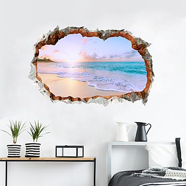 Ozdobné samolepky na zeď - 3D samolepky na zeď Krajina / 3D Obývací pokoj / Ložnice / Kuchyň