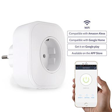 Zásuvka / Smart Plug Funkce časování / Snadné používání / s USB porty 1ks PVC / ABS / 750 ° C WiFi-povoleno / APLIKACE / Andriod 4.2 výše Amazon Alexa Echo / Asistent Google / Hnízdo