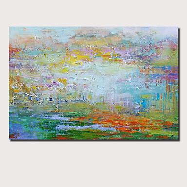 billige Veggkunst-Hang malte oljemaleri Håndmalte - Abstrakt Landskap Moderne Inkluder indre ramme