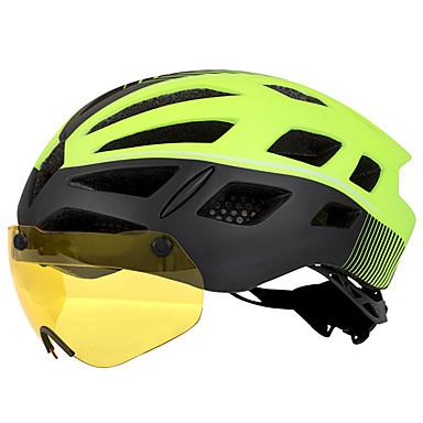 Kingbike Per Adulto Casco Da Bici Con Occhialini Lente Magnetica 26 Prese D'aria Grandezza Regolabile Rete Anti-insetti Modellato Integralmente Eps Pc Gli Sport Bici Da Strada Mountain Bike #07119626