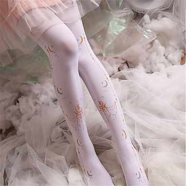 ecb1197671d Maid Costume Cosplay Women s Adults  Princess Lolita Tights Girly Socks   Long  Stockings Thigh High
