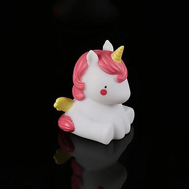 BRELONG® 1pc Unicorn LED Night Light Blanc Bouton alimenté par batterie Bande dessinée / Décoration / Chevet <5 V
