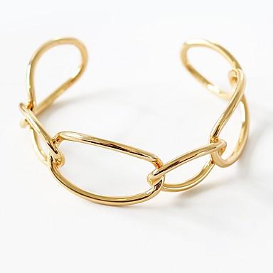 abordables Bracelet-Manchettes Bracelets Femme Géométrique Interlocking unique Hyperbole Elégant Bracelet Bijoux Dorée Argent pour Mascarade Fête scolaire