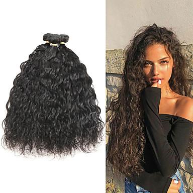 3 pacchetti Brasiliano Onda naturale capelli naturali Remy Extension di capelli umani 8-22 pollice Tessiture capelli umani Soffice Migliore qualità Nuovo arrivo Estensioni dei capelli umani Per donna