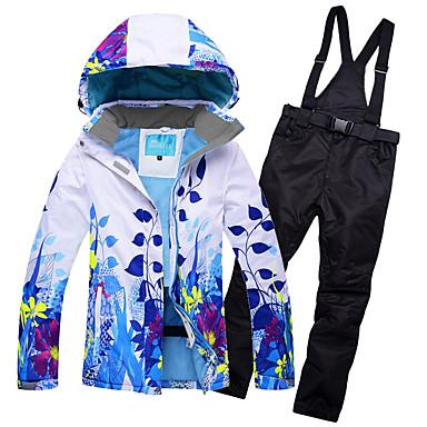 fb9b1e6da0 RIVIYELE Women s Ski Jacket with Pants Skiing Camping   Hiking Winter  Sports POLY Chinlon Silk Cloth Tracksuit Ski Wear  07122317