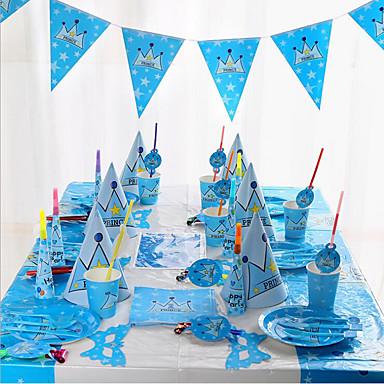 Feste / Compleanno Accessori per feste Bicchiere di carta monouso / Piatto di carta monouso A fantasia Carta pura Compleanno