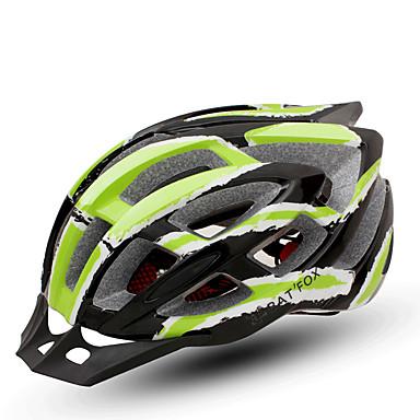 abordables Casques de Cyclisme-BAT FOX Adulte Casque de vélo 24 Aération CE Résistant aux impacts Intégralement moulé Ventilation EPS PC Des sports Vélo de Route Vélo tout terrain / VTT Cyclisme - Vert Homme Femme Unisexe
