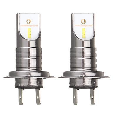 povoljno Auto svjetla za maglu-2pcs h7 55w 26000lm 6000k automobila prednja svjetla žarulja bijela svjetla za maglu ip68 vodootporna