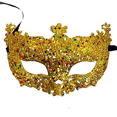 9697a51930810 Disfraces de Carnaval · Cosplay Máscara veneciana   Media Máscara  Lentejuelas   Halloween Azul   Dorado   Fucsia Plásticos Fiesta