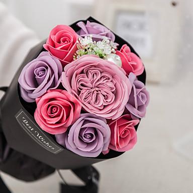 Fleurs artificielles 1 Une succursale Classique Fleurs de mariage Moderne Roses Fleur de Table