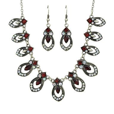 billige Smykke Sett-Dame Rød Vintage Stil Smykkesett - Mote Inkludere Dråpeøreringer Charm Halskjede Rød Til Seremoni Stevnemøte