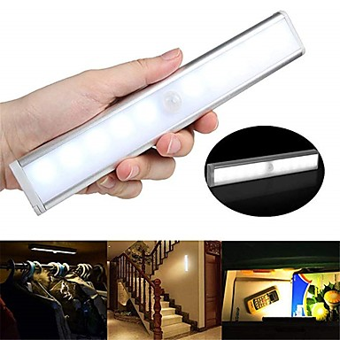 1pc 100 lm 10 LED Perler Infrarød sensor Let Instalation Lyssensor LED-kabinetlamper Varm hvid Hvid Hjem / kontor Køkken Soveværelser / RoHs / CE