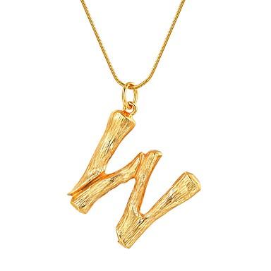billige Mote Halskjede-Dame Anheng Halskjede X Bokstaver Mote Chrome Gull Svart Sølv 55 cm Halskjeder Smykker 1pc Til Gave Daglig