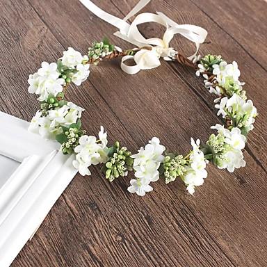 abordables Coiffes-Acrylique / Coton / Plastique Fleurs / Coiffure avec Pétale / Fleur / Couleur Unie 1 Pièce Mariage / Occasion spéciale Casque