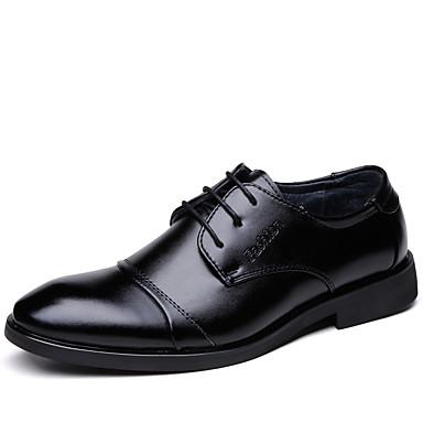 Miesten Muodolliset kengät PU Kevät kesä Liiketoiminta Oxford-kengät Kävely Wear Proof Musta
