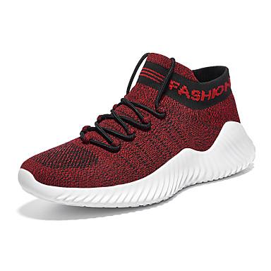 Erkek Ayakkabı Elastik Kumaş İlkbahar yaz / Sonbahar Kış Sportif Atletik Ayakkabılar Günlük için Siyah / Şarap / Haki