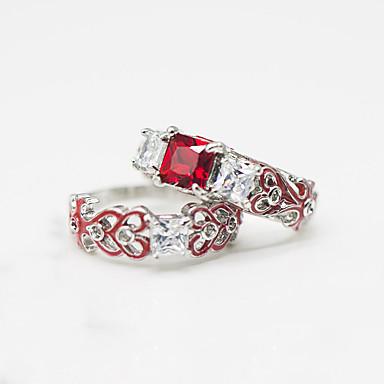 Χαμηλού Κόστους Μοδάτο Δαχτυλίδι-Γυναικεία Cubic Zirconia Κλασσικό Δαχτυλίδι Σετ δαχτυλιδιών Στυλάτο Πολυτέλεια Ευρωπαϊκό Μοντέρνο Μοδάτο Δαχτυλίδι Κοσμήματα Κόκκινο / Πράσινο / Μπλε Για Γάμου Πάρτι Δώρο Ημερομηνία 5 / 6 / 7 / 8 / 9