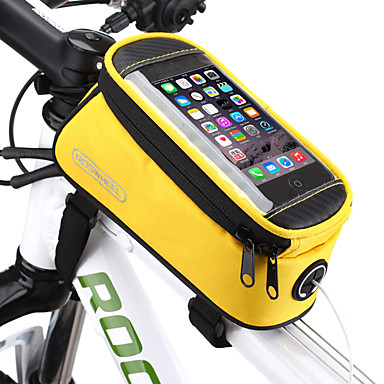 abordables Sacoches de Vélo-ROSWHEEL Sac de téléphone portable Sac Cadre Velo 4.8 pouce Ecran tactile Cyclisme pour Samsung Galaxy S6 iPhone 4/4S Samsung Galaxy S4 Jaune Rouge Bleu Cyclisme / Vélo / iPhone X / iPhone XR