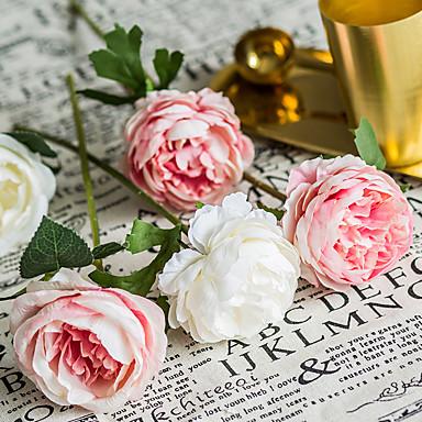 Fleurs artificielles 5 Une succursale Classique Mariage Fleurs de mariage Roses Fleurs éternelles Fleur de Table