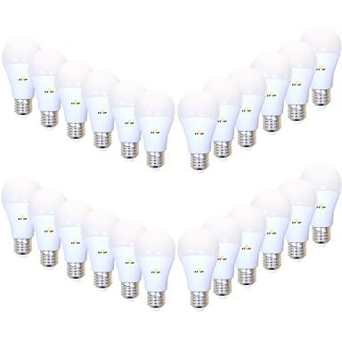 billige Elpærer-EXUP® 24pcs 9 W LED-globepærer 850 lm B22 E26 / E27 A19 26 LED perler SMD 2835 Kreativ Dekorativ Ferie Varm hvit Kjølig hvit 220-240 V 110-130 V