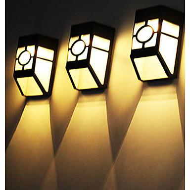 abordables Éclairage Extérieur-1pc 4.5w / 0.5w a conduit la lumière solaire de mur lumière solaire blanc solaire 2v éclairage extérieur jardin cour 1 perles menées