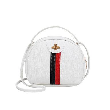 cheap Featured Deals-Women's Zipper Crossbody Bag PU(Polyurethane) Color Block Blushing Pink / Beige / Gray