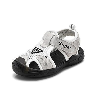baratos Sapatos de Criança-Para Meninos Couro de Porco Sandálias Criança (9m-4ys) / Little Kids (4-7 anos) Conforto Branco / Preto Verão