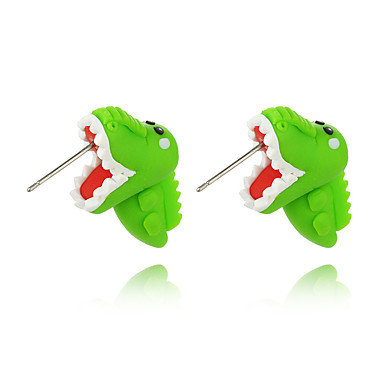 voordelige Dames Sieraden-Dames Oorknopjes Oorbel Dinosaurus Dier leuke Style Voor kinderen oorbellen Sieraden Groen Voor Afspraakje 1 paar