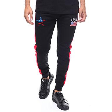 01ba60ba179dc9 Men s Drawstring Jogger Pants Black Sports Fashion Cotton Pants   Trousers  Gym Workout Plus Size Activewear