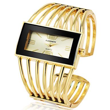 Women's Bracelet Watch Gold Watch Quartz Silver / Gold / Rose Gold Casual Watch Cool Large Dial Analog Fashion Elegant - Golden+Black Rose Gold Black / Rose ...