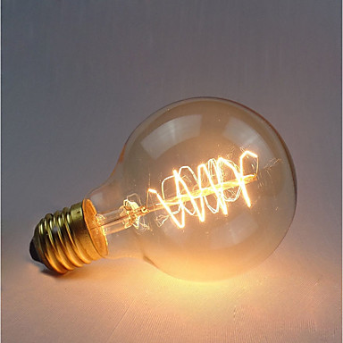 abordables Ampoules électriques-1pc 40 W E26 / E27 G80 Jaune 2300 k Rétro / Intensité Réglable / Décorative Ampoule incandescente Edison Vintage 220-240 V