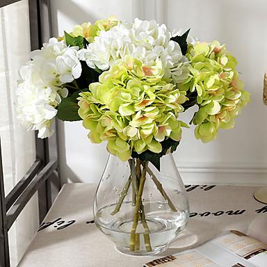 Keinotekoinen Flowers 1 haara Klassinen Häät Hääkukat Hortensiat Eternal Flowers Pöytäkukka