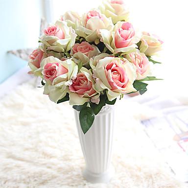 Keinotekoinen Flowers 1 haara Klassinen Eurooppalainen Hääkukat Ruusut Eternal Flowers Pöytäkukka