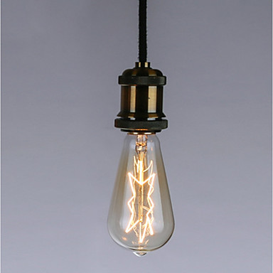 1pc 40 W E26 / E27 ST64 Gelb Transparent Körper Glühbirne Vintage Edison Glühbirne 220-240 V