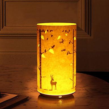 1pc vodio noćno svjetlo kreativni jelen žuti Halloween Božićni ukras usb <= 36 V>