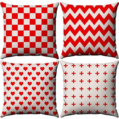 billige Putevar-4.0 stk Bomull / Lin Putevar, Stripet Enkel Geometrisk Enkel Geometrisk