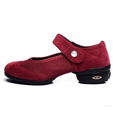 Focoso Per Donna Sneakers Da Danza Moderna Raso Sneaker Piatto Scarpe Da Ballo Nero - Rosso - Verde #07177594
