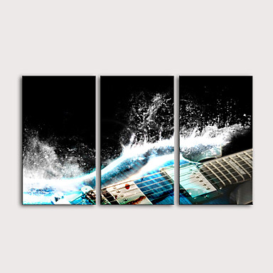 billige Trykk-Trykk Valset lerretskunst Strukket Lerret Trykk - fantasi Musikk Moderne Tre Paneler Kunsttrykk
