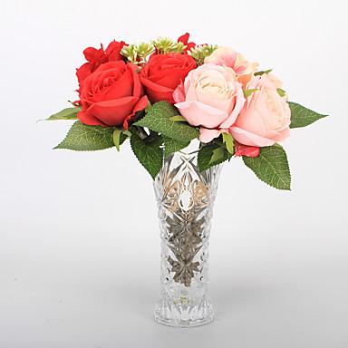 Kunstige blomster 1 Afdeling Klassisk Scenerekvisitter Europæisk Roser Evige blomster Bordblomst