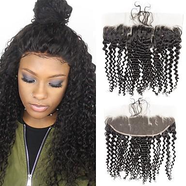voordelige Weaves van echt haar-1 bundel Braziliaans haar Kinky Curly Onbehandeld haar Wig Accessories Haar Weft met Sluiting 8-20 inch(es) Natuurlijke Kleur Menselijk haar weeft Creatief Stress en angst Relief Hot Sale Extensions