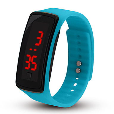 baratos Relógios Homem-Casal Relógio Esportivo Digital Borracha Preta / Rosa / Azul Piscina Não LCD Digital Fashion - Azul Rosa claro Azul Claro Um ano Ciclo de Vida da Bateria