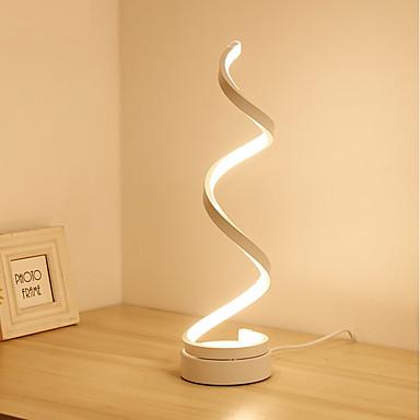 halpa Lamput ja varjostimet-kierre kaareva led-pöytäpöytävalaisin nykyaikainen minimalistinen valaistussuunnittelu akryylimateriaali täydellinen luova muotoilu makuuhuoneen olohuoneeseen kulta valkoinen