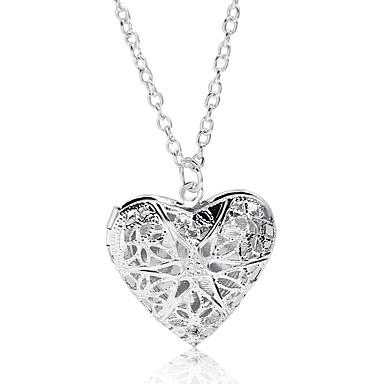 voordelige Dames Sieraden-Dames Medaillons ketting Hart Koreaans Modieus Kromi Zilver 44 cm Kettingen Sieraden 1pc Voor Dagelijks Uitgaan Verjaardag