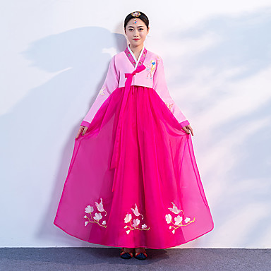 8c41d3a10 Hanbok Girl Adults' Women's Asian Traditional Korean Jeogori Hanbok Magoja  For Performance Engagement Party Bridal