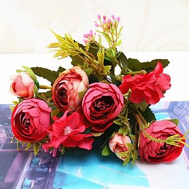 Искусственные Цветы 1 Филиал Односпальный комплект (Ш 150 x Д 200 см) Свадебные цветы Modern Вечные цветы Букеты на стол