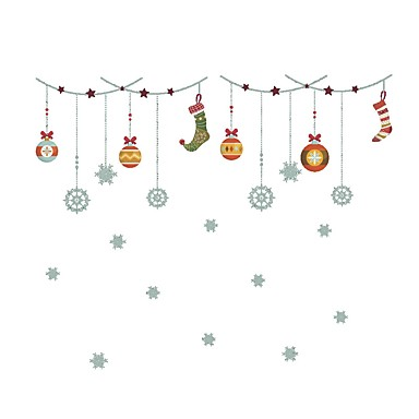 Koriste-seinätarrat - Loma Wall Tarrat Joulu / Holiday Ruokailuhuone / Sisällä
