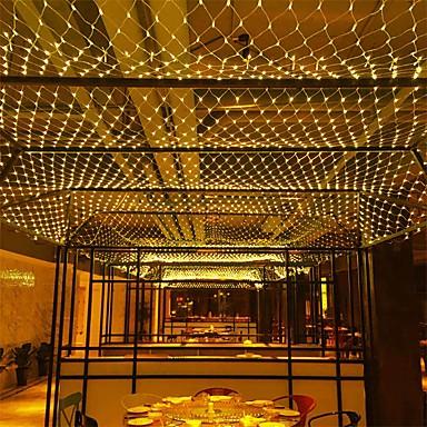 3m*2m 200 LEDs Net Lights Curtain lights WhiteWarm WhiteBlueMulti Color Party  Decorative  Linkable 110-120 V 1pc