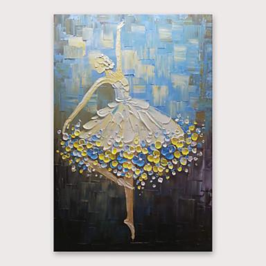 Hang-Painted öljymaalaus Maalattu - Abstrakti Moderni Sisällytä Inner Frame