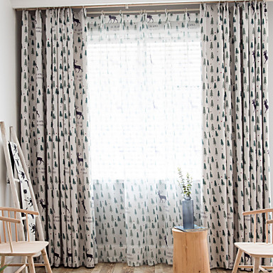 Christmas Blackout One Panel Curtain Living Room Curtains